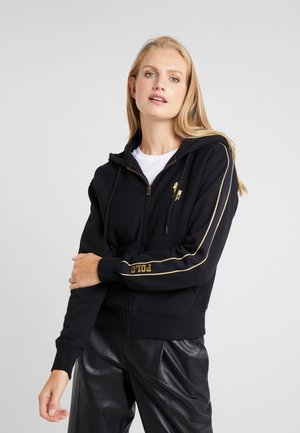 SEASONAL - veste en sweat zippée - black