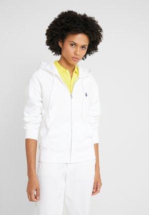 SEASONAL  - veste en sweat zippée - white