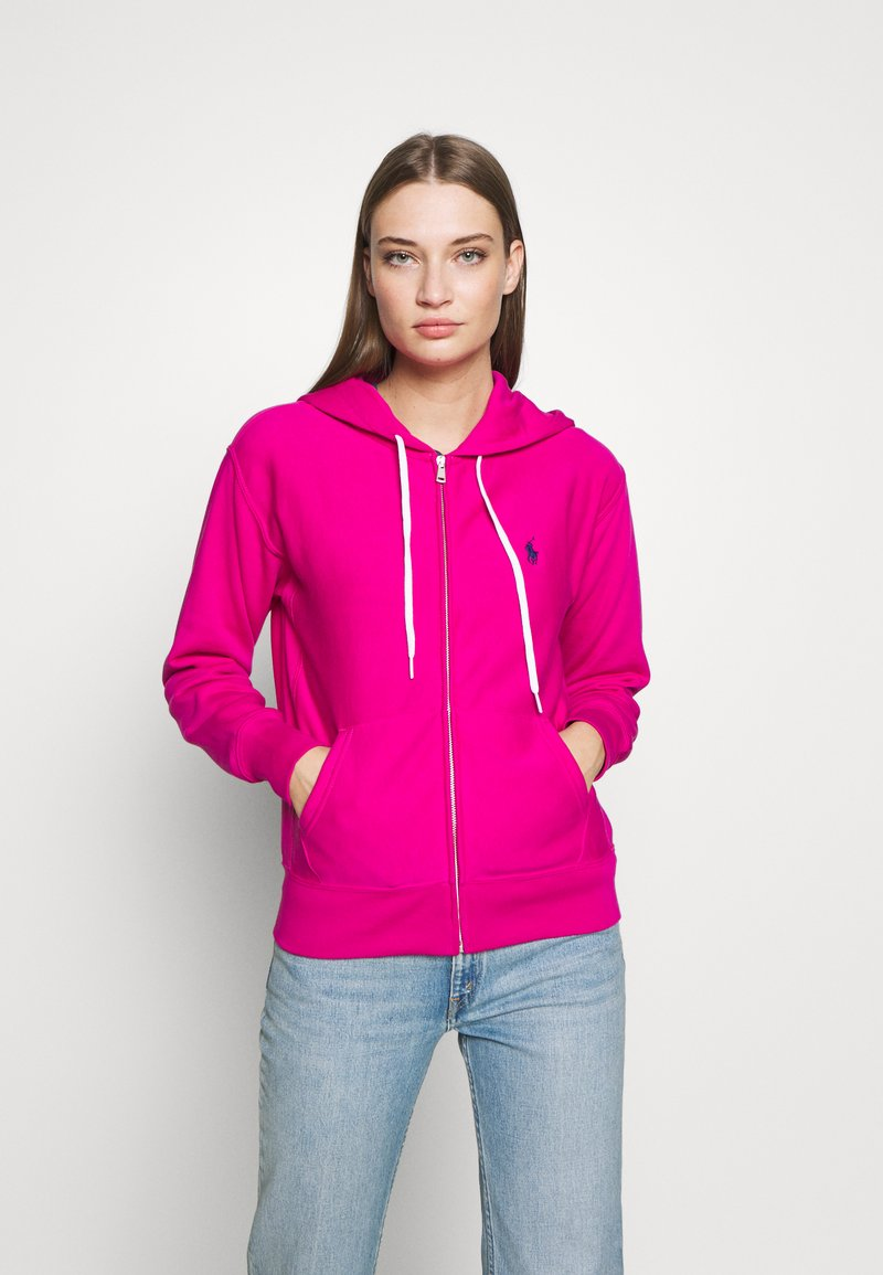 Polo Ralph Lauren - ZIP LONG SLEEVE - Felpa aperta - pink