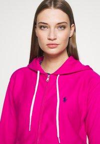 Polo Ralph Lauren - ZIP LONG SLEEVE - Zip-up hoodie - pink - 3