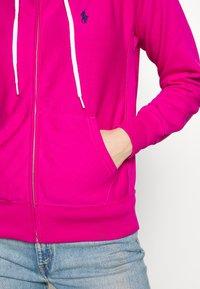 Polo Ralph Lauren - ZIP LONG SLEEVE - Zip-up hoodie - pink - 5