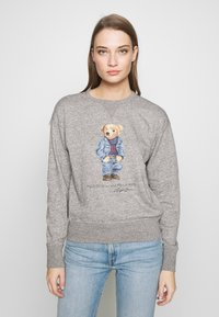 Polo Ralph Lauren - BEAR LONG SLEEVE - Bluza - dark vintage heat - 0