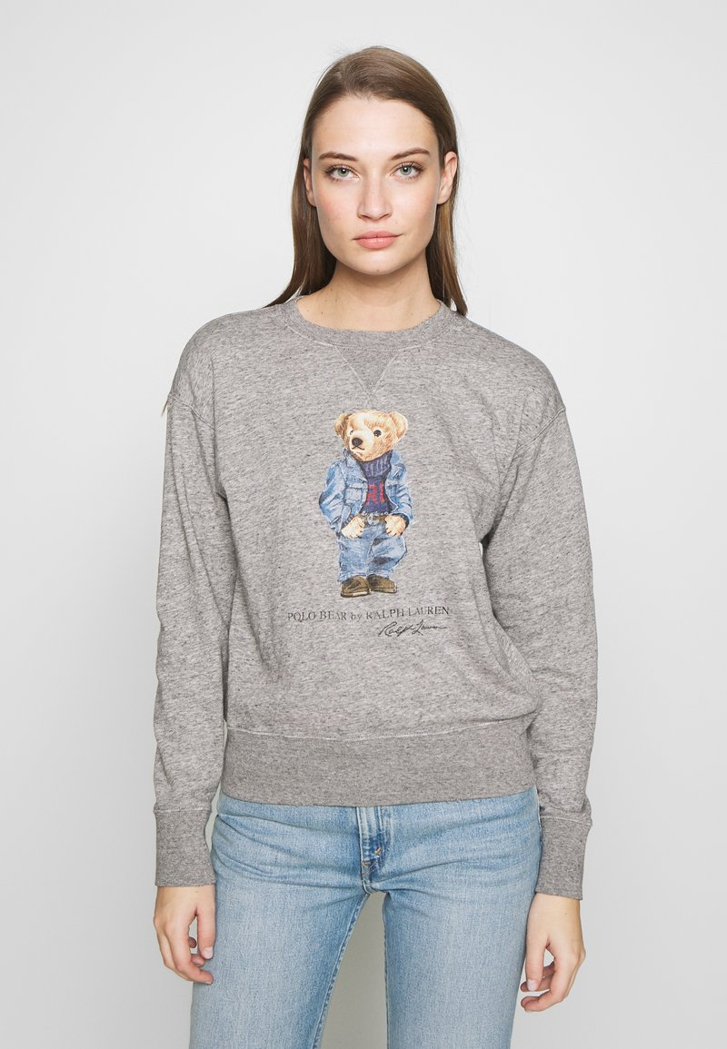 Polo Ralph Lauren - BEAR LONG SLEEVE - Bluza - dark vintage heat