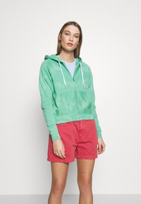 Polo Ralph Lauren - LONG SLEEVE  - veste en sweat zippée - deep seafoam - 0
