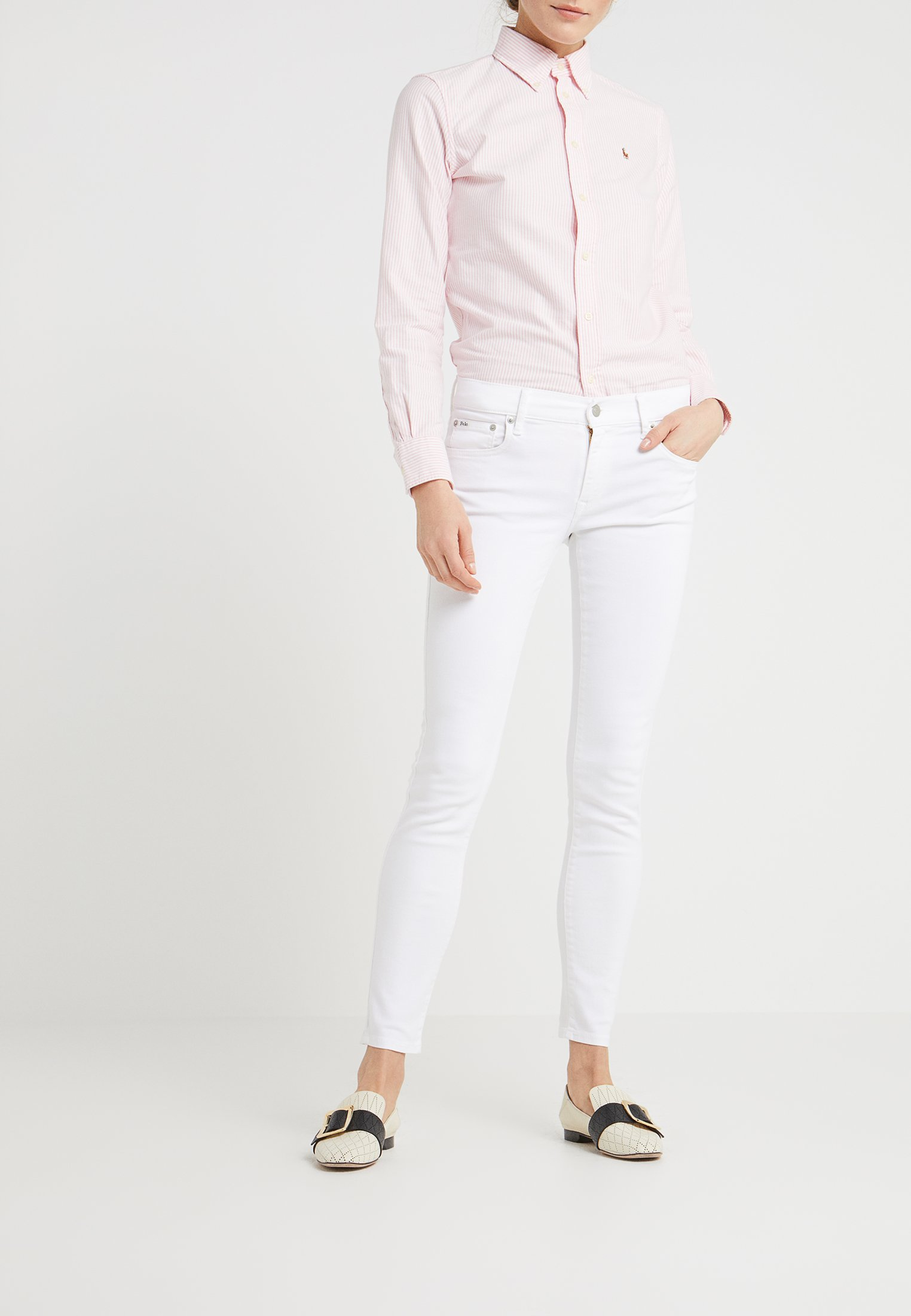 White Lauren WashJeans Ralph Leah Polo Skinny 6fg7yb