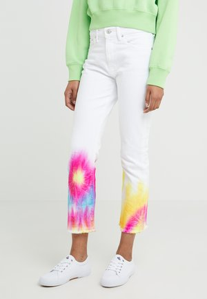 ABRIAL WASH - Jeansy Slim Fit - white/tie dye