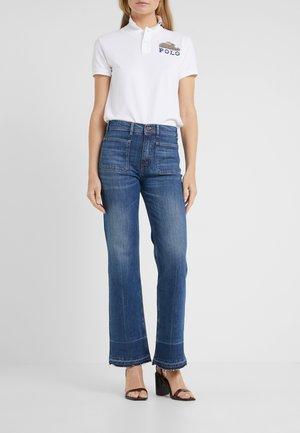 JENN - Flared Jeans - dark indigo