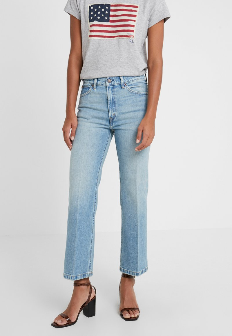 Polo Ralph Lauren - MIKAELA WASH - Flared Jeans - light indigo
