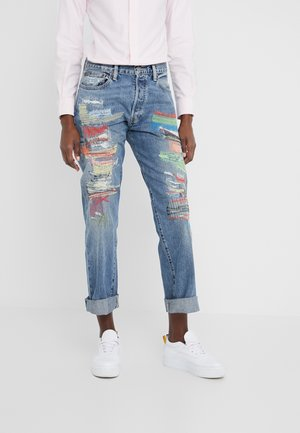 KEARNIE WASH - Jeansy Skinny Fit - medium indigo