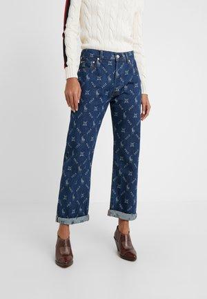 KYLES - Flared Jeans - dark indigo