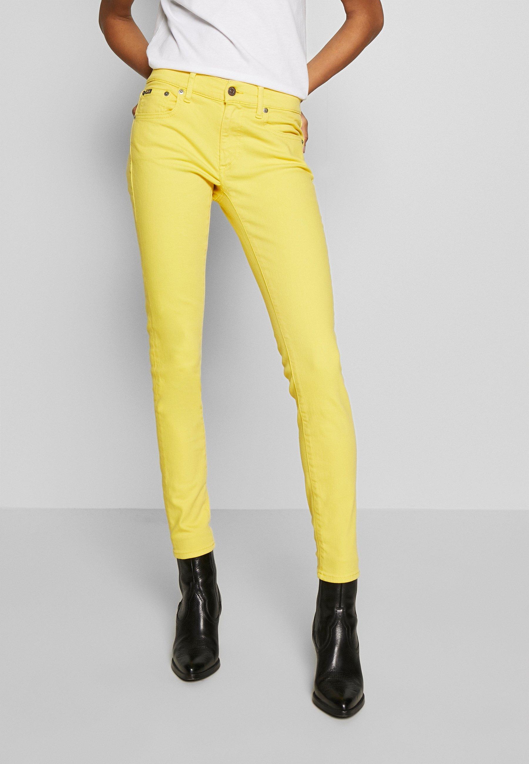 Gele Skinny fit jeans dames online kopen | ZALANDO