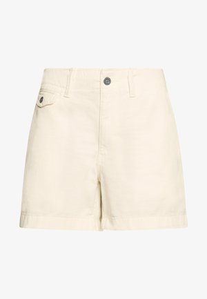 SLIM SHORT - Szorty - warm white