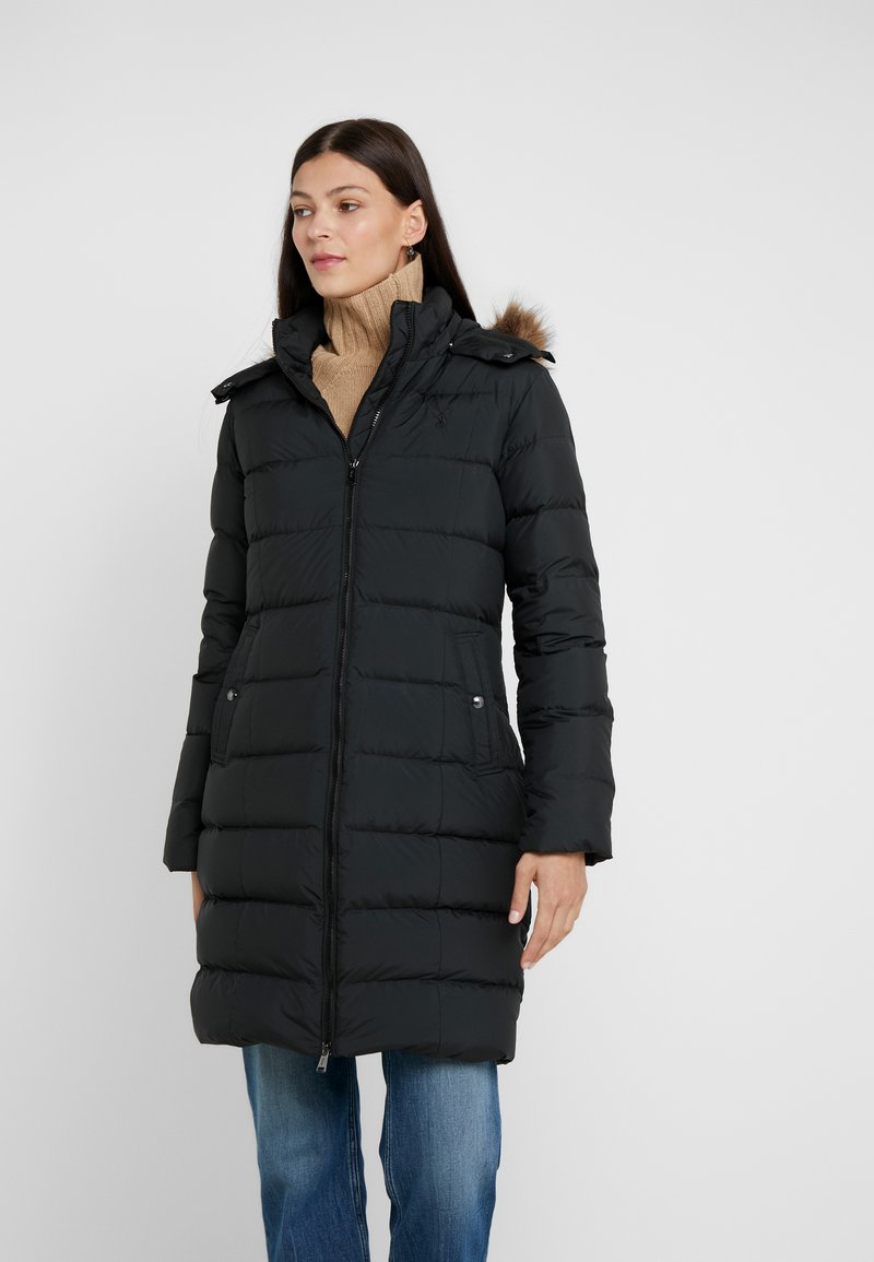 Polo Ralph Lauren - MATTE FINE - Kabát zprachového peří - black
