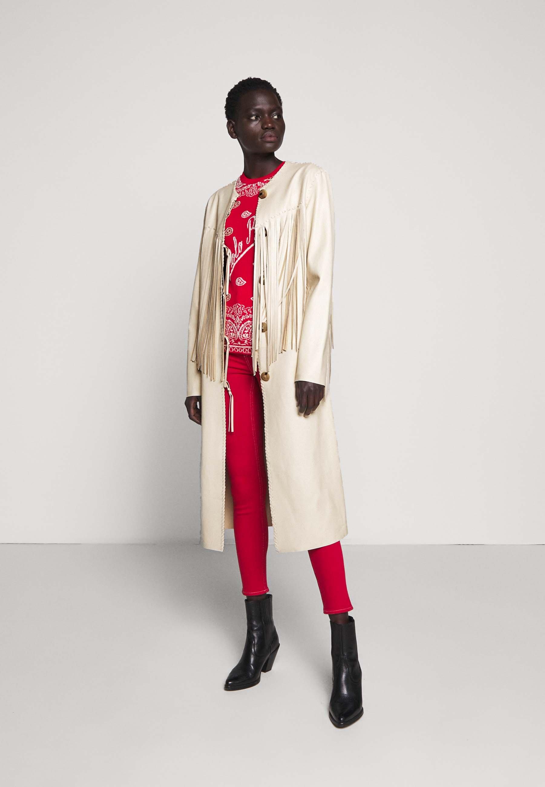 Polo Ralph Lauren CARSON COAT Veste en cuir winter cream