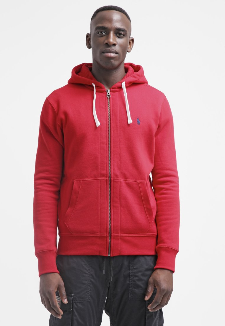 Polo Ralph Lauren - HOOD - Mikina na zip - red