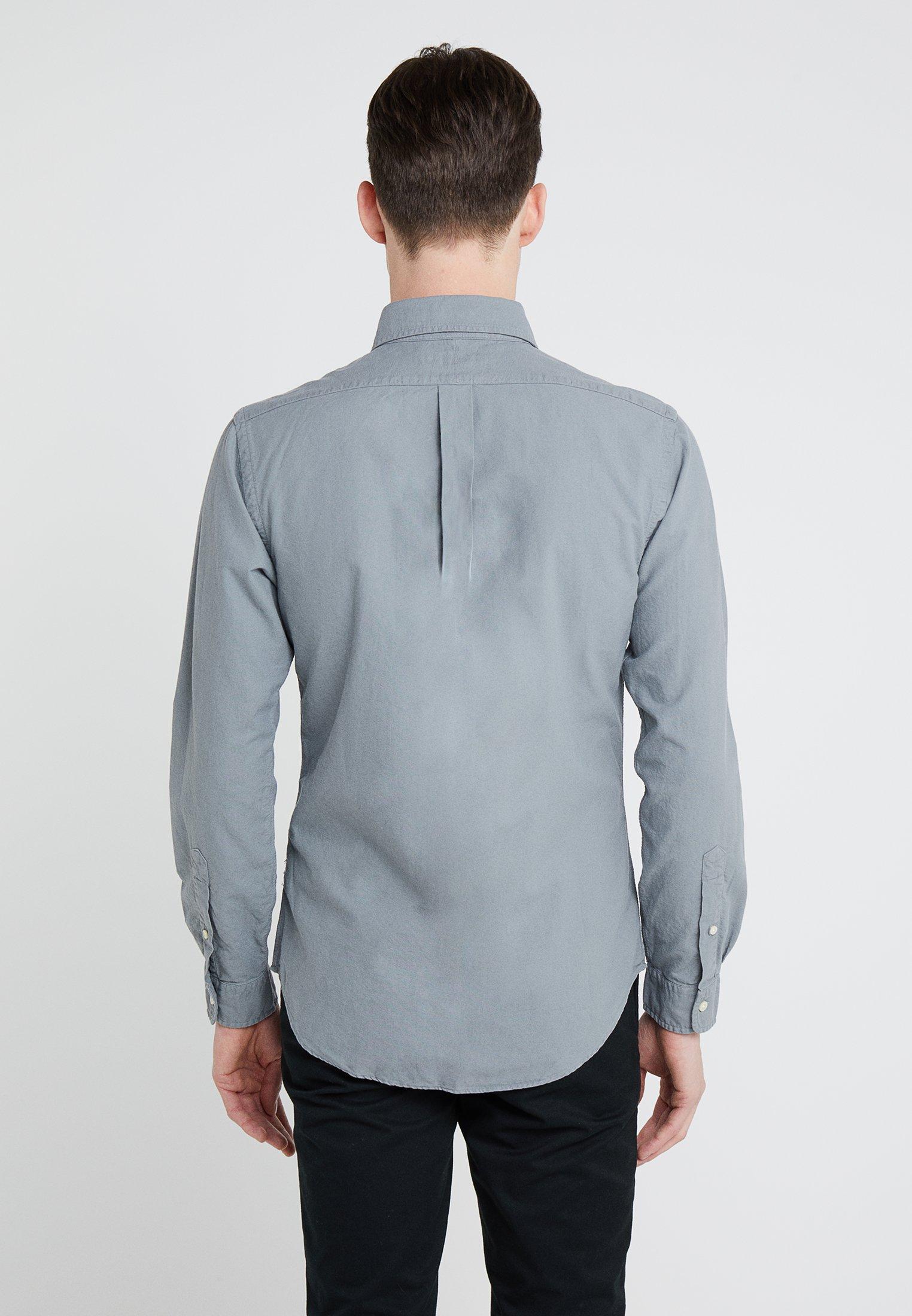 Perfect Ralph Oxford Grey Slim Polo Lauren FitChemise 76gyvYbfmI