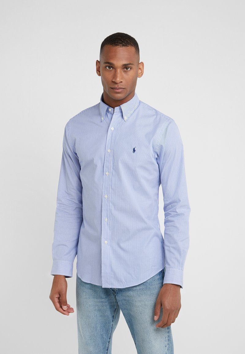 Polo Ralph Lauren - NATURAL SLIM FIT - Shirt - blue/white
