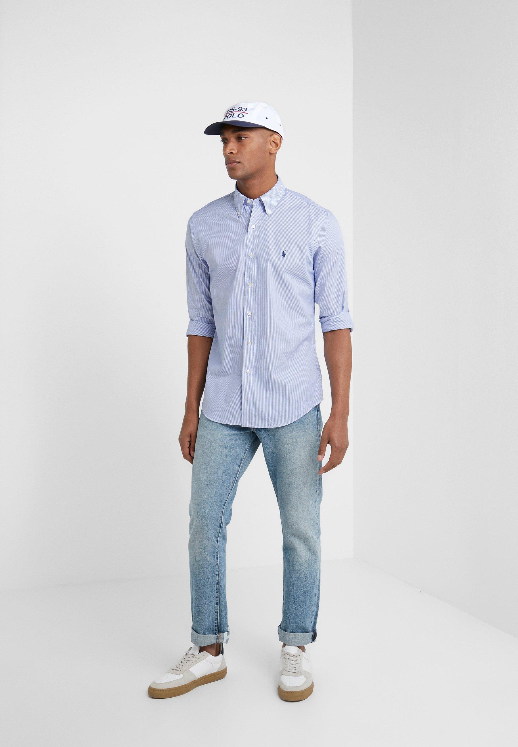 Polo Ralph Lauren Natural Slim Fit - Skjorter Blue/white