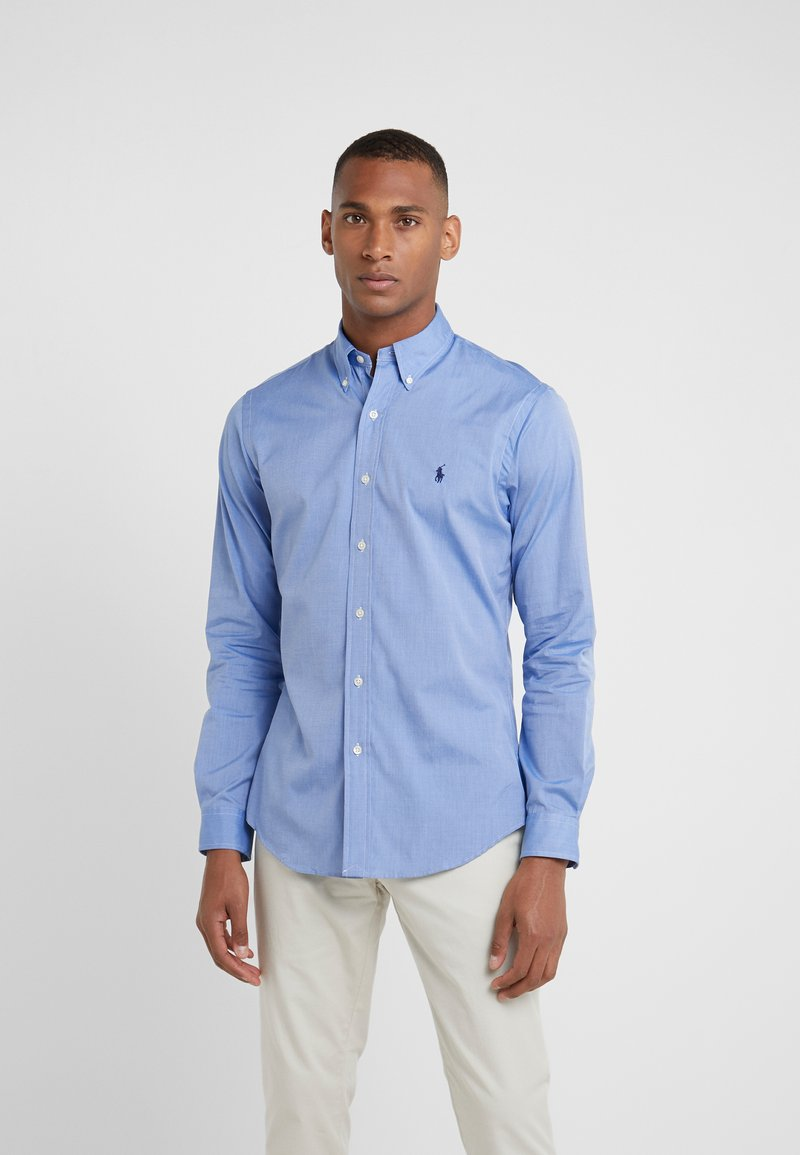 Polo Ralph Lauren - NATURAL SLIM FIT - Shirt - blue end on end