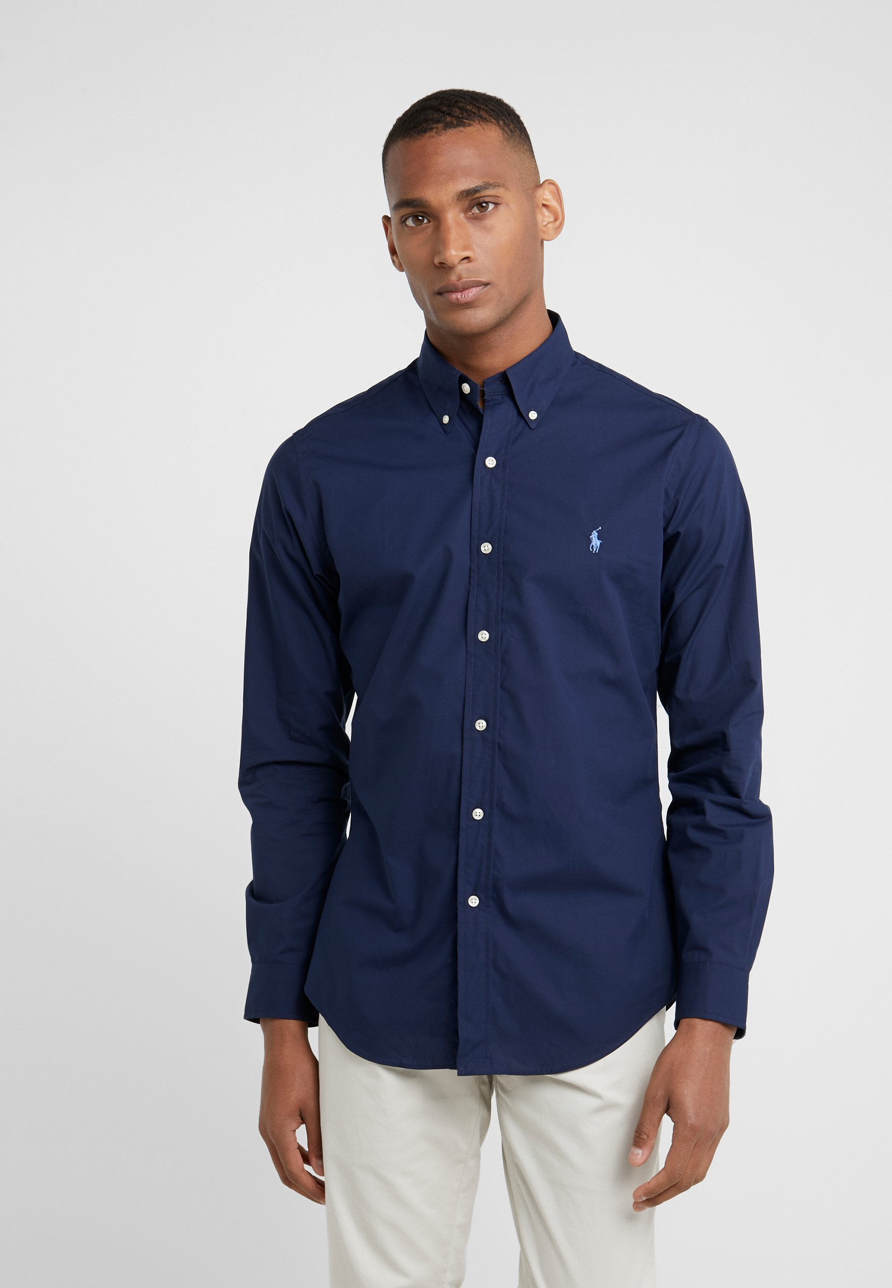 Polo Ralph Lauren NATURAL SLIM FIT - Koszula - newport navy