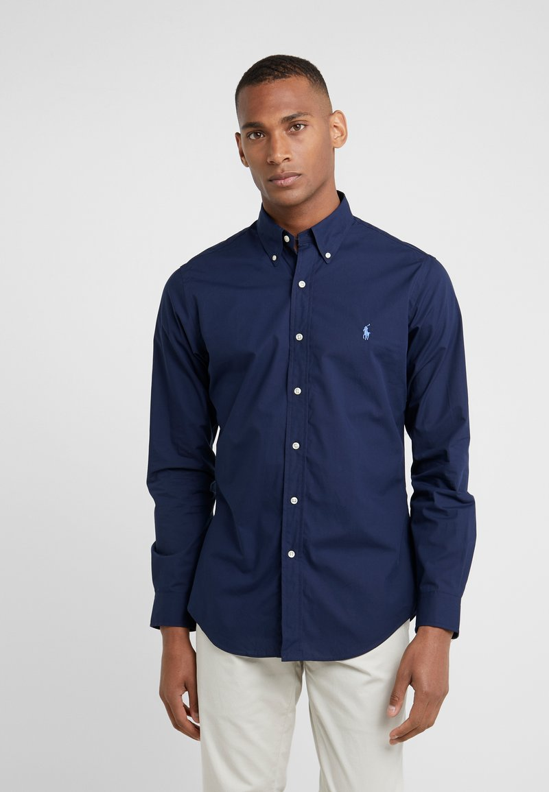 Polo Ralph Lauren - NATURAL SLIM FIT - Vapaa-ajan kauluspaita - newport navy