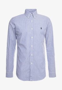 Polo Ralph Lauren - NATURAL SLIM FIT - Vapaa-ajan kauluspaita - blue/white bengal - 3