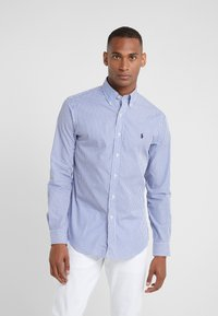 Polo Ralph Lauren - NATURAL SLIM FIT - Vapaa-ajan kauluspaita - blue/white bengal - 0