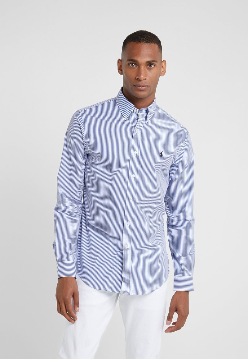Polo Ralph Lauren - NATURAL SLIM FIT - Vapaa-ajan kauluspaita - blue/white bengal