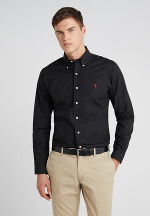 NATURAL SLIM FIT - Camicia - black