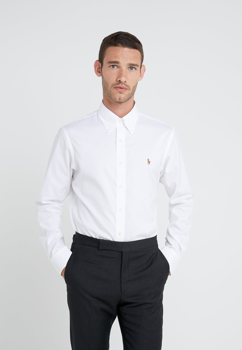 Polo Ralph Lauren - EASYCARE PINPOINT OXFORD CUSTOM FIT - Košile - white