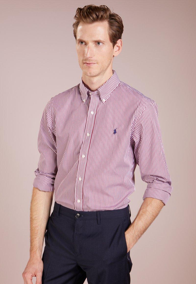 Polo Ralph Lauren - SLIM FIT - Koszula - burgundy/white