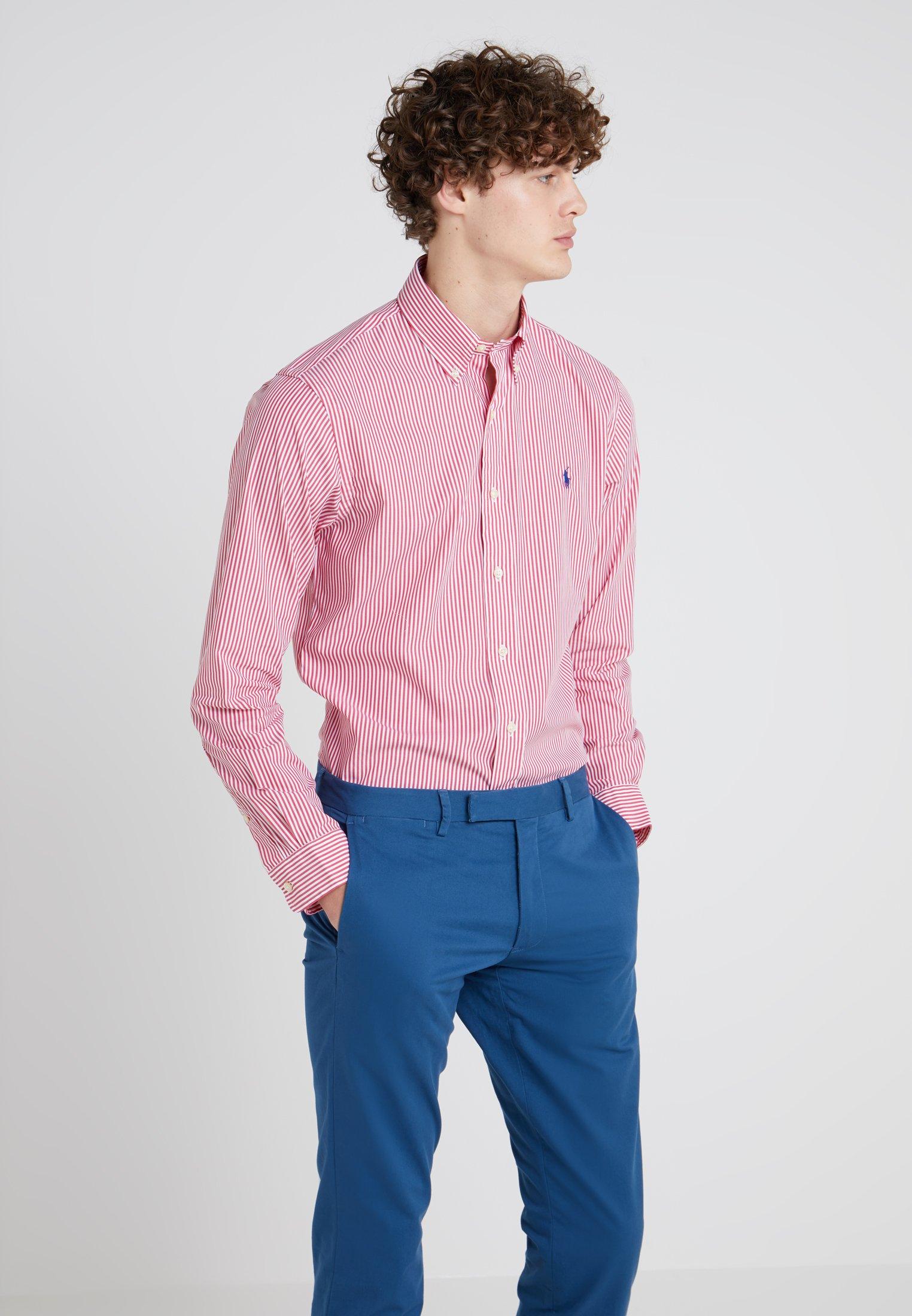 Polo Ralph Lauren NATURAL SLIM FIT - Koszula - bermuda red