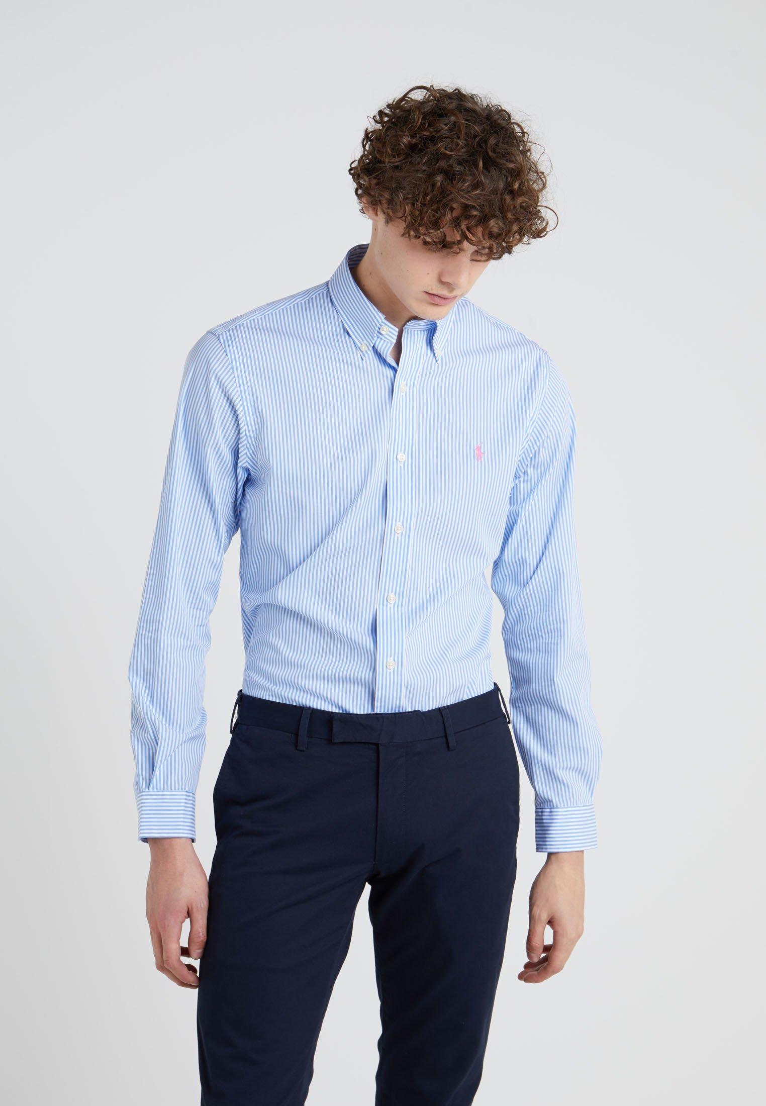 Polo Ralph Lauren NATURAL SLIM FIT - Koszula - powder blue