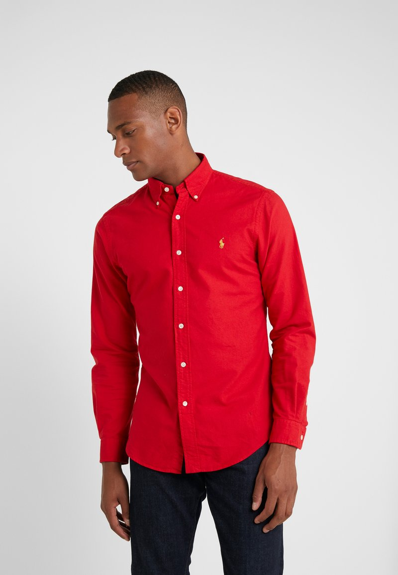 Polo Ralph Lauren - OXFORD SLIM FIT - Vapaa-ajan kauluspaita - red