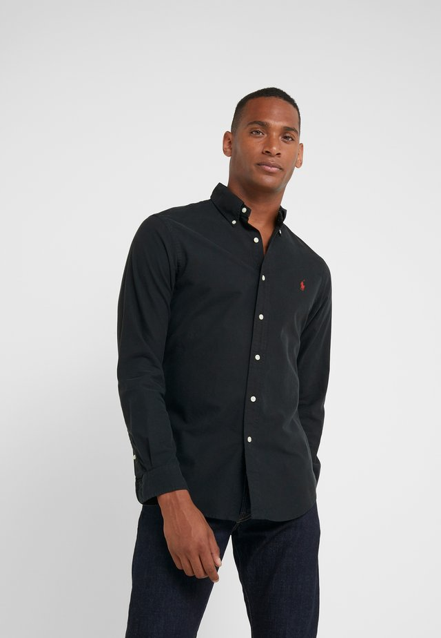 OXFORD SLIM FIT - Overhemd - black