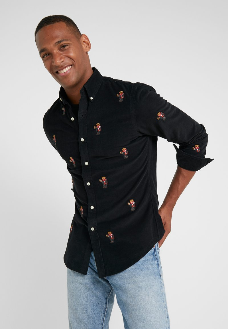 Polo Ralph Lauren - WALE SLIM FIT - Shirt - black