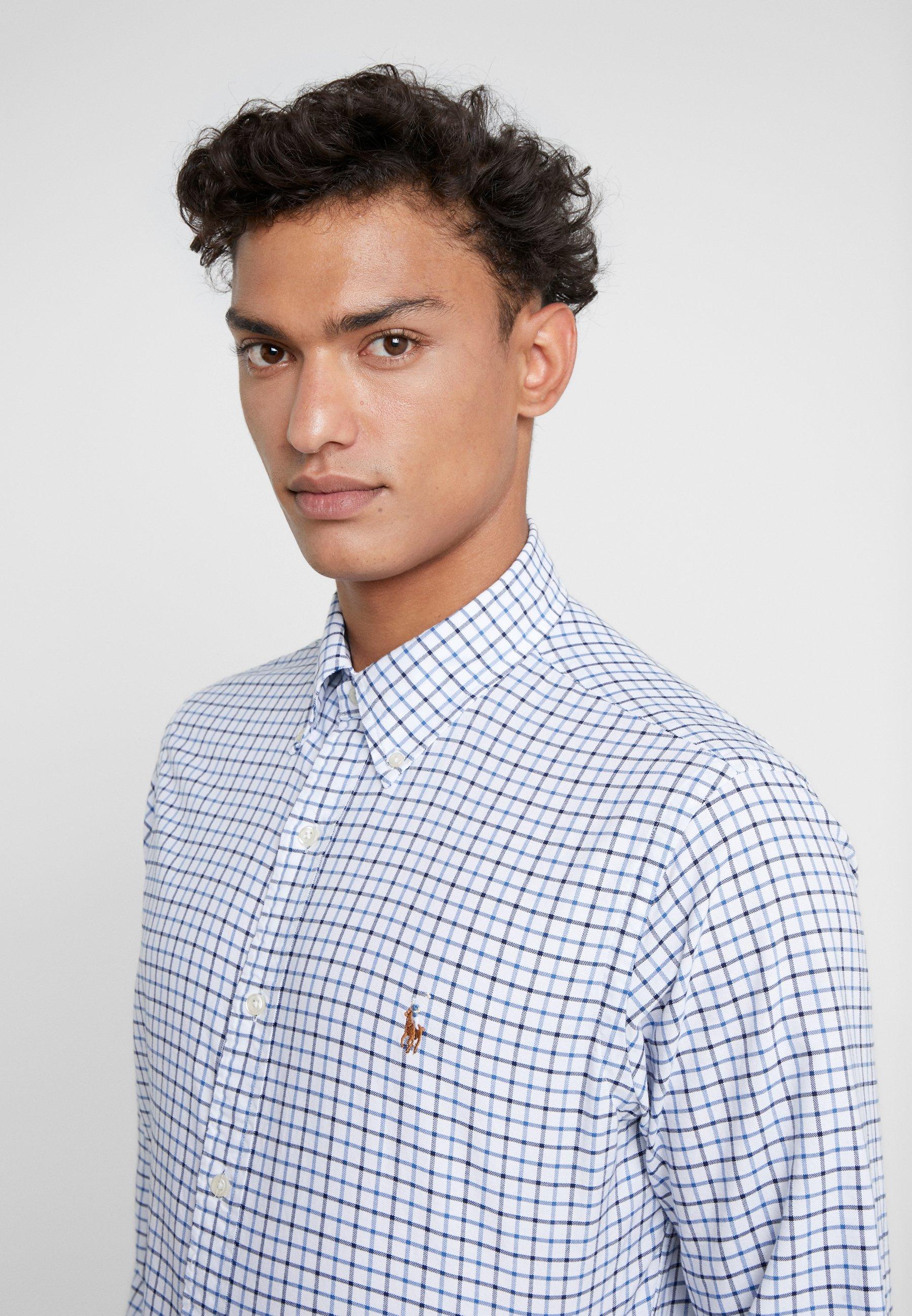 Polo Ralph Lauren Oxford Custom Fit - Skjorter White/navy