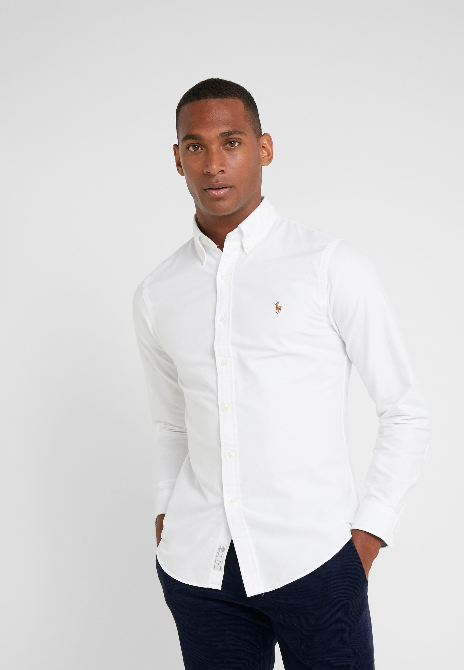 Polo Ralph Lauren OXFORD SLIM FIT - Koszula - white
