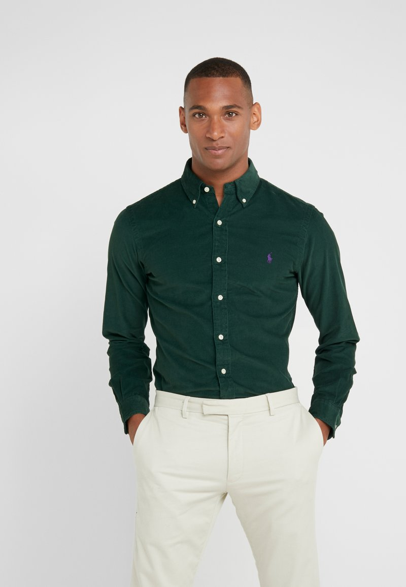 Polo Ralph Lauren - WALE SLIM FIT - Koszula - college green