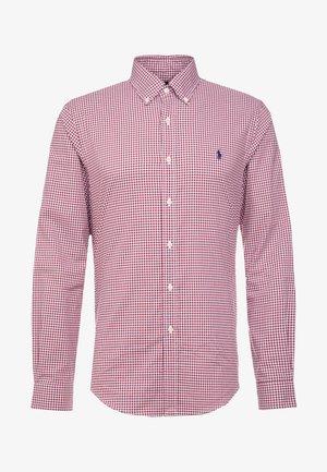 POPLIN SLIM FIT - Camisa - burgundy/white