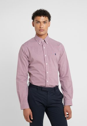 POPLIN SLIM FIT - Skjorta - burgundy/white