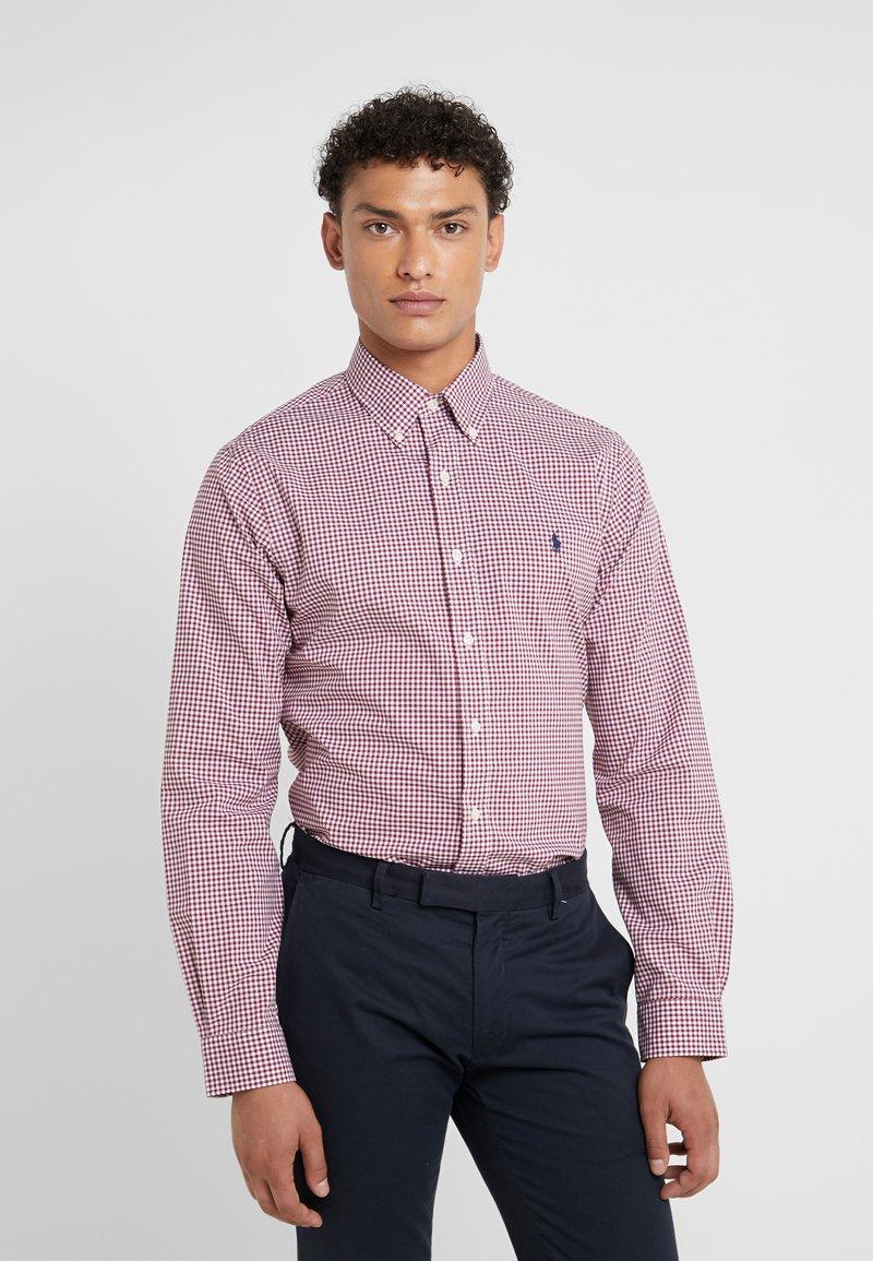 Polo Ralph Lauren - POPLIN SLIM FIT - Camicia - burgundy/white