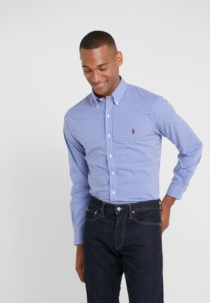 POPLIN SLIM FIT - Hemd - royal/white