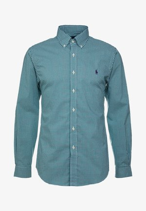 POPLIN SLIM FIT - Shirt - evergreen/white