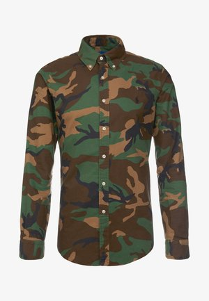 PRINTED OXFORD - Shirt - olive