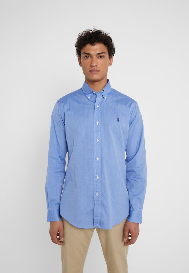 CUSTOM FIT - Camicia - blue end on end