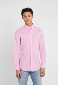 Polo Ralph Lauren - NATURAL SLIM FIT - Camicia - pink/white - 0