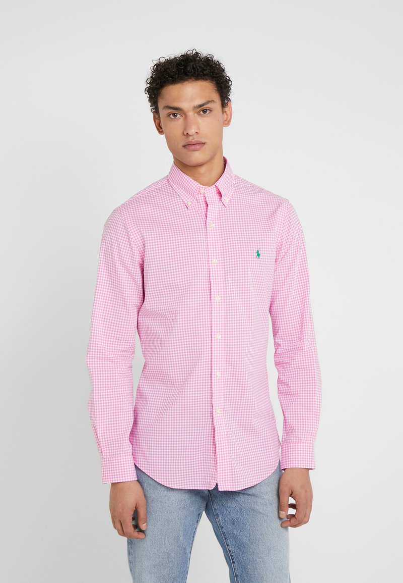 Polo Ralph Lauren - NATURAL SLIM FIT - Camicia - pink/white