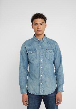 ICON WESTERN - Shirt - blue denim