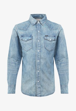 ICON WESTERN - Camicia - blue denim